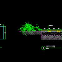 园林设计中的三种汀步施工图(含平面剖面详图)