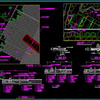 植草砖停车场详图(包括明沟和暗沟做法详图)