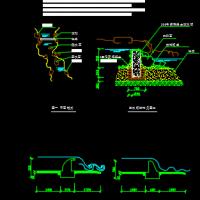 景观工程滚槛(滚水坝)设计图