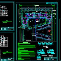 某小区室外管网雨污水设计图