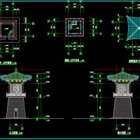 仿古建筑之鼓楼宫阙文昌殿建筑设计图纸