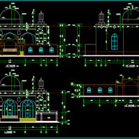 两套清真寺仿古建筑设计CAD图纸