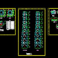 小型77米钢结构烟囱塔架设计图