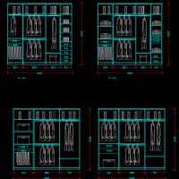 各类柜子CAD设计图纸