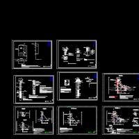 某重力坝安全监测施工设计图