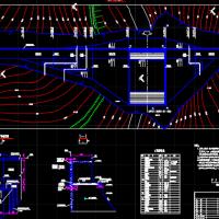 某水利工程重力坝式水库结构布置图