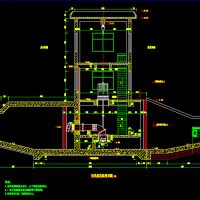 某防洪工程小型雨水排涝泵站设计施工图纸闸站施工图