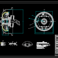 汽车构造制动器装配图课程设计