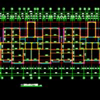18层住宅楼装配式住宅平面拆分图