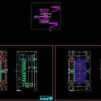 模具反操作侧进胶设计CAD图纸