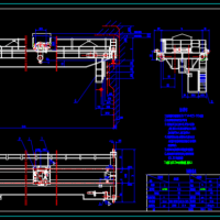 5T吊钩桥式起重机CAD设计图纸