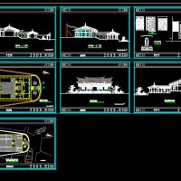 蔡氏宗祠施工设计CAD测绘图