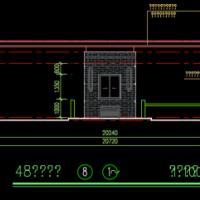 某住宅小区多个出入口警务室建筑设计图纸