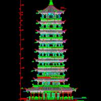 钱江观潮度假村观音塔设计图纸