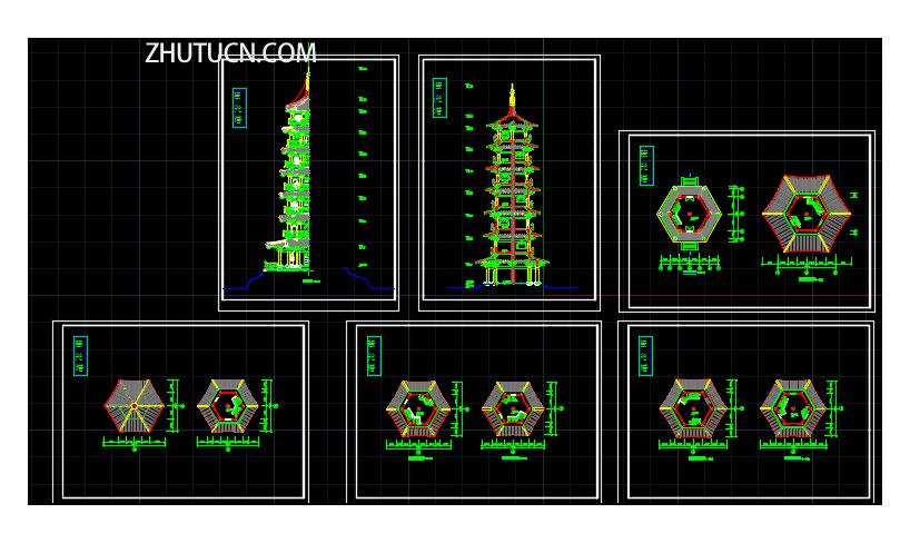 慧光塔建筑及结构设计图