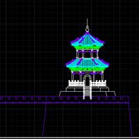 魁星楼城门塔设计图纸