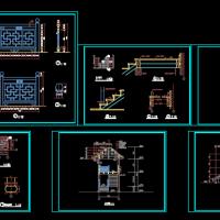 古建楼梯建筑图设计图纸
