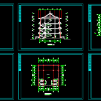 某地古建筑佛塔建筑设计施工图