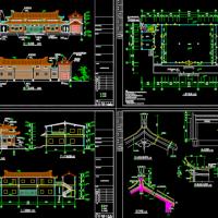 安息堂骨灰存放室建筑设计图