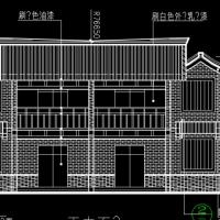 李白故居风景区仿唐民居设计图纸