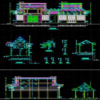罗汉堂大殿建筑图纸