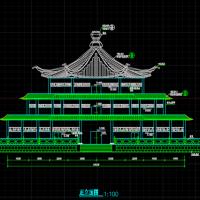三层古建天坛设计建筑施工图