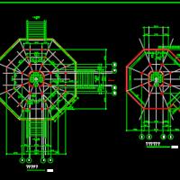 杉湖岛七层塔全套建施图(含大样)