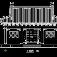 仿唐风格古建大殿设计图