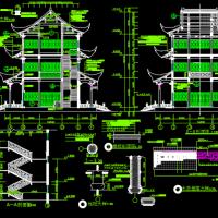 非常具有参考价值的文昌阁古建筑施工图