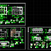 小型的准提庵建筑施工图