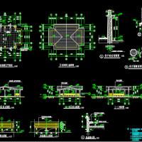 景区售票亭设计施工图