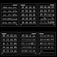 各种汽车及工程车模型CAD图块