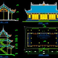 重庆宝轮寺两个大殿修复设计图纸