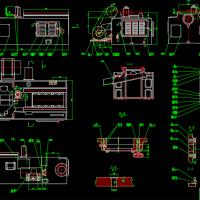 床身装配图数控滚齿机设计图纸