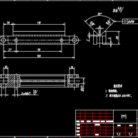 V形导轨设计CAD图