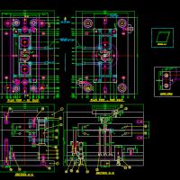 薄板注塑模具CAD图