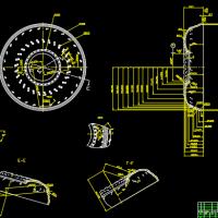 泵轮壳体CAD图纸