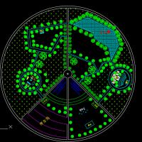 城市广场圆形平面图块