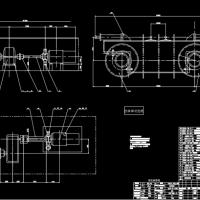 50/10t通用桥式起重机大车运行机构部件图