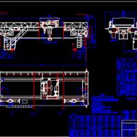 吊钩桥式起重机CAD总图