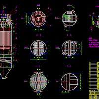 蜂窝除尘器CAD设计图纸
