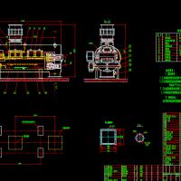 耐压式全封闭称重给煤机总装图