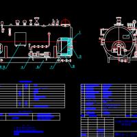 4t/h卧式内燃三回程燃油锅炉总图