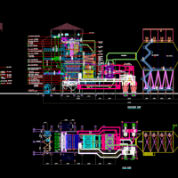 锅炉总装CAD图