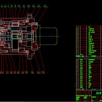 行星减速器CAD设计装配图纸