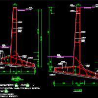 0.5-4米高石砌及悬臂式挡土墙设计图纸