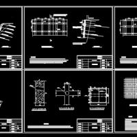 某地区边坡格构锚杆支护设计施工图