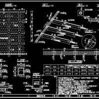 框格锚杆边坡支护设计CAD图纸