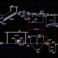某造纸厂废水处理站高程布置图课程设计