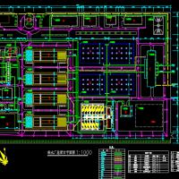 17万吨净水厂设计总平面设计图纸
